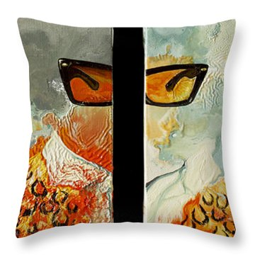 I'm Smiling At You Throw Pillow by Joseph Demaree