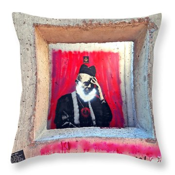 I'm Thinking Throw Pillow by Joan Reese