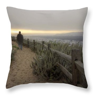 I'm Walking In The Wind Looking At The Sky Throw Pillow