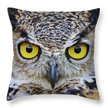 Throw Pillow featuring the photograph I'm Watching You by Heather King