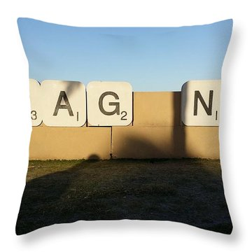 Imag Ne Throw Pillow