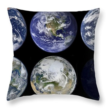 Image Comparison Of Iconic Views Throw Pillow by Stocktrek Images