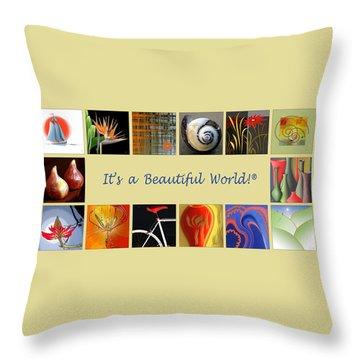 Image Mosaic - Promotional Collage Throw Pillow by Ben and Raisa Gertsberg