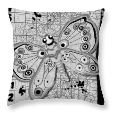 Throw Pillow featuring the digital art Imaginary Lines by Carol Jacobs