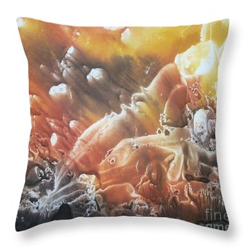 Throw Pillow featuring the painting Imagination 2 by Vesna Martinjak