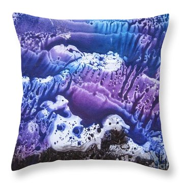 Throw Pillow featuring the painting Imagination 3 by Vesna Martinjak