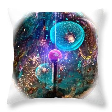Imagination Cruise Ship Art Throw Pillow