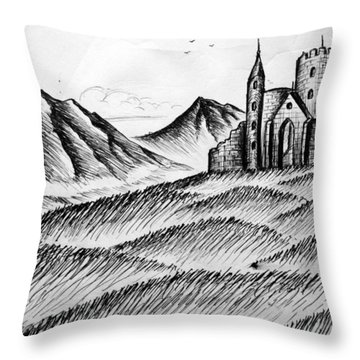 Throw Pillow featuring the painting Imagination by Salman Ravish