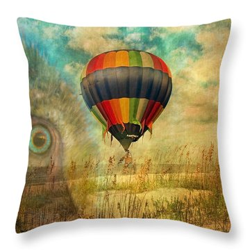 Imagine Throw Pillow by Betsy Knapp