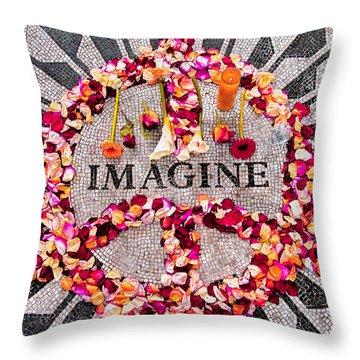 Imagine Throw Pillow by Gary Slawsky