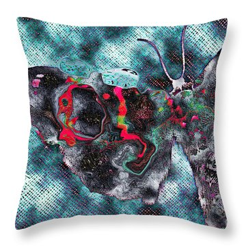 Imagine Number 1 Butterfly Art Throw Pillow by Andy Prendy