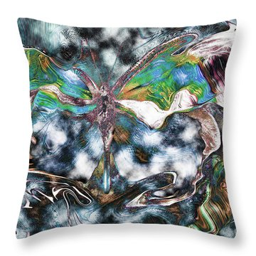 Imagine Number 2 Butterfly Art Throw Pillow by Andy Prendy