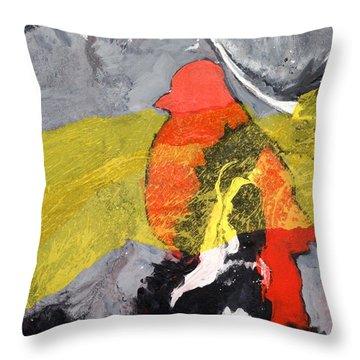 Red Bird Flyaway Throw Pillow