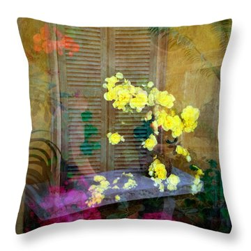 Throw Pillow featuring the photograph Imagine by Penny Lisowski