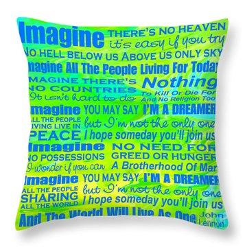 Imagine Song Lyrics - Landform Throw Pillow