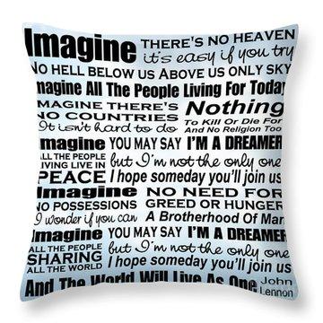 Imagine Song Lyrics - Sky Throw Pillow