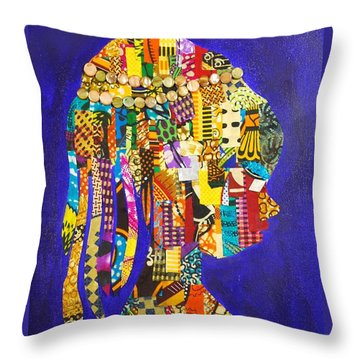 Throw Pillow featuring the tapestry - textile Imani by Apanaki Temitayo M