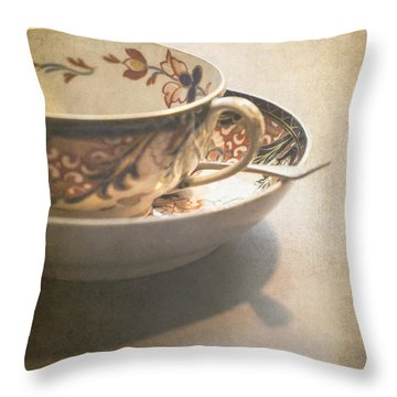 Imari Cup And Saucer Throw Pillow