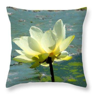 Imitation Throw Pillow by John Freidenberg