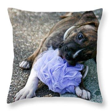 Imma Git U    Pit Bull Pup Throw Pillow