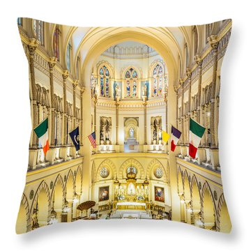 Immaculate Conception Jesuit Church - New Orleans Throw Pillow