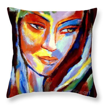 Throw Pillow featuring the painting Immersed by Helena Wierzbicki