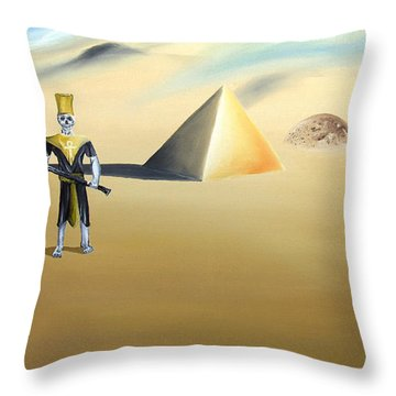 Throw Pillow featuring the painting Immortality by Ryan Demaree