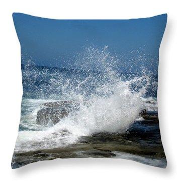 Impact Of The Sea Throw Pillow