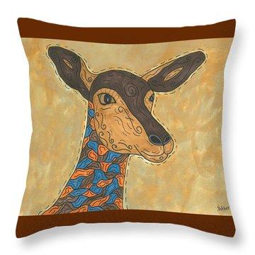 Impala Antelope Throw Pillow