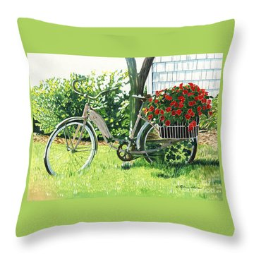 Impatiens To Ride Throw Pillow