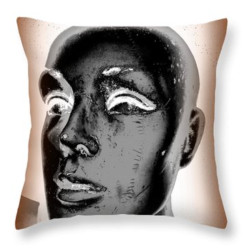 Imperfect Beauty Throw Pillow by Ed Weidman