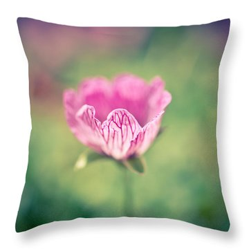 Imperfect Bloom Throw Pillow by Priya Ghose