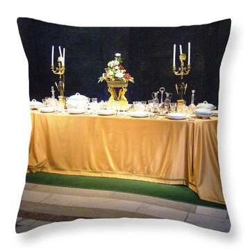 Imperial Lunch  Throw Pillow by Giuseppe Epifani