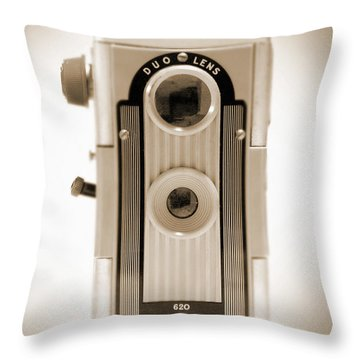 Imperial Reflex Camera Throw Pillow by Mike McGlothlen