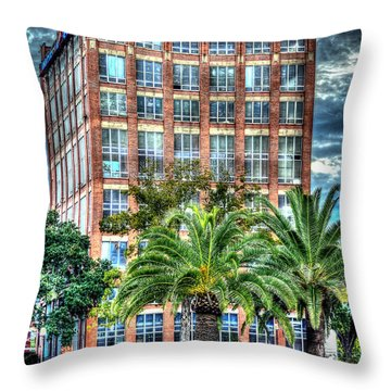 Imperial Sugar Factory Daytime Hdr Throw Pillow