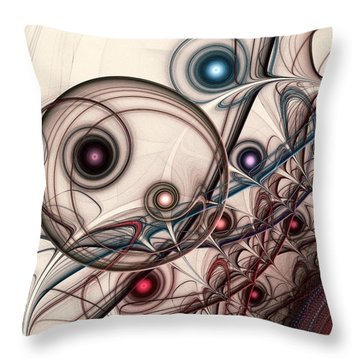 Implantation Throw Pillow by Anastasiya Malakhova