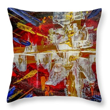 Implosion Throw Pillow