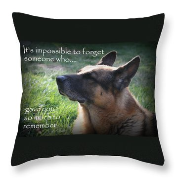 Impossible To Forget Throw Pillow