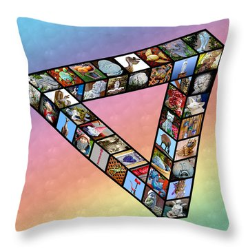 Impossible Triangle Of House And Garden Decorations - Aoc14 Throw Pillow