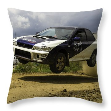 Impreza In Flight Throw Pillow