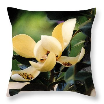 Impression Ivory Magnolia II Throw Pillow