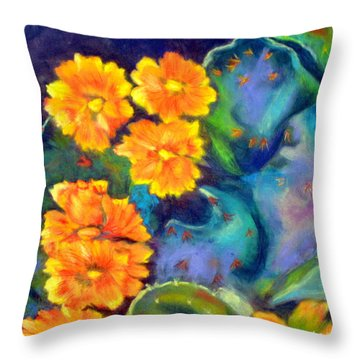 Impression Of Cactus Flower Sold Throw Pillow