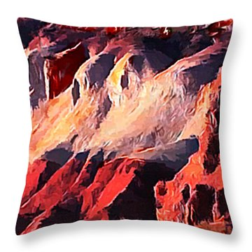 Impression Of Capitol Reef Utah At Sunset Throw Pillow