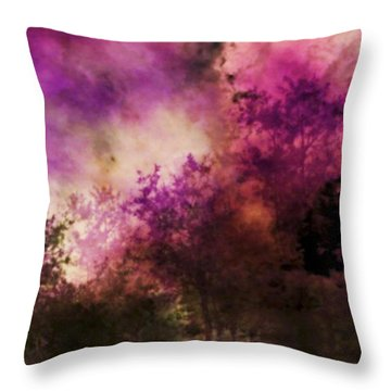 Impressionism Style Landscape Throw Pillow by Maggie Vlazny
