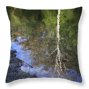 Impressionist Reflections Throw Pillow