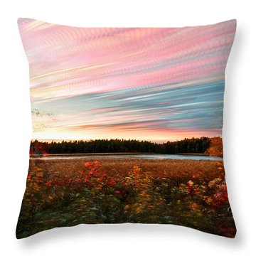 Impressionistic Autumn Throw Pillow