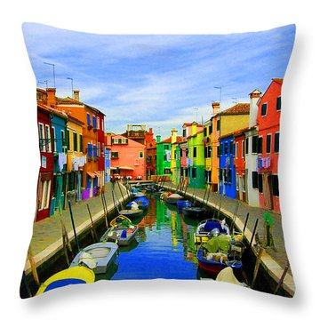 Impressionistic Photo Paint Gs 013 Throw Pillow by Catf