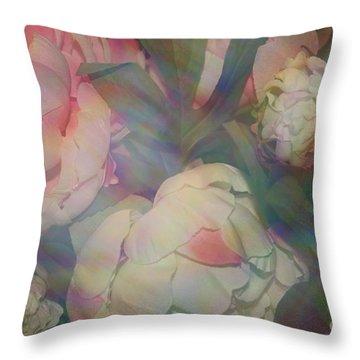 Throw Pillow featuring the photograph Impressionistic Spring Bouquet by Dora Sofia Caputo Photographic Art and Design