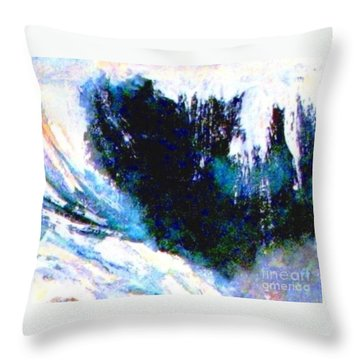 Impressionistic Waterfall Throw Pillow by Hazel Holland