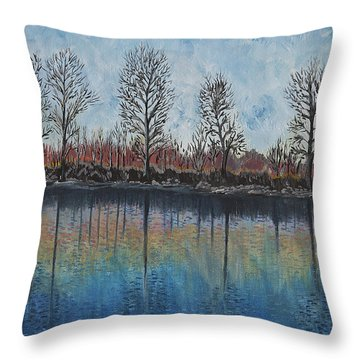 Impressions  Throw Pillow by Felicia Tica